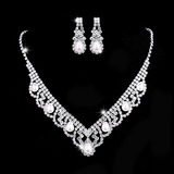 Unique Copper/Silver Plated With Rhinestone Ladies' Jewelry Sets (011202567)