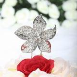 A forma di fiore Cromo Matrimonio Decorazioni per torte (119030819)