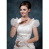 Satijn Wrist Lengte Bruids Handschoenen/Meisje Van de Bloem Handschoenen (014020507)