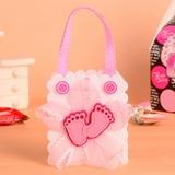 Füße Cut-out Handtasche geformt Geschenktaschen mit Bogen (Satz von 12) (050054605)