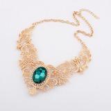 Klassische Legierung mit Strass Frauen Halsketten (011034508)