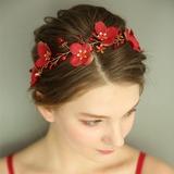 Ladies Gorgeous Silk Flower Headbands With Venetian Pearl/Crystal (Sold in single piece) (042192975)
