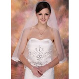 Two-tier Elbow Bridal Veils With Lace Applique Edge (006005414)