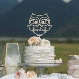 Personalized Owl Wood Cake Topper (119203571)