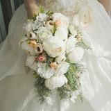 Cascade Soie/Tissu Bouquets de mariée - (123201751)