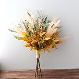 Forme libre Tissu/D'emulational baies Bouquets de mariée - (123201757)