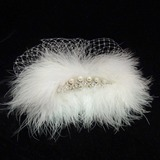 Prachtige Feather/Tule Fascinators/Bloemen & Veertjes (042025401)
