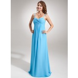Empire Sweetheart Floor-Length Chiffon Maternity Bridesmaid Dress With Ruffle (045004424)