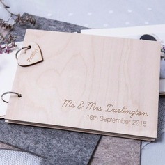 Personalized design Wood Guestbook (101198159)