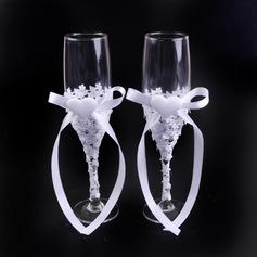 Diseño sencillo/Estilo clásico Flautas tostado con Arco de la cinta (126199817)