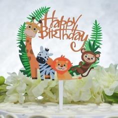 Buon compleanno Acrilico Decorazioni per torte (Venduto in un unico pezzo) (119165591)