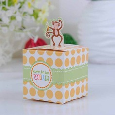 Happy Monkey Baby Shower With Banana Cubic Favor Boxes (Set of 12) (050024306)