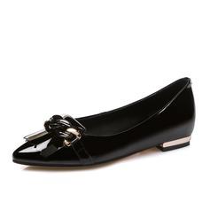 Vrouwen Echt leer Flat Heel Flats Closed Toe schoenen (086084247)