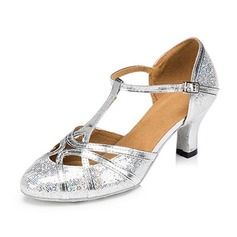 Donna Glitter scintillanti Sandalo Stiletto Sala da ballo con Con Listino a T Fibbia Cava-out Scarpe da ballo (053109342)