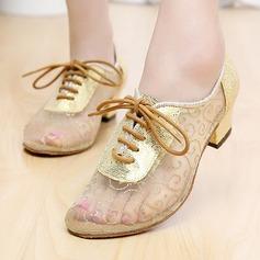 Frauen Lace Flache Schuhe Tanzschuhe Training mit Zuschnüren Tanzschuhe (053108829)