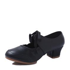 Frauen Microfaser-Leder Tanzschuhe Charakter Schuhe mit Zuschnüren Tanzschuhe (053112511)