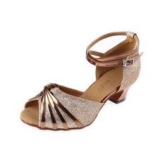 Donna Glitter scintillanti Tacchi Latino con Listino alla caviglia Fibbia Scarpe da ballo (053041195)