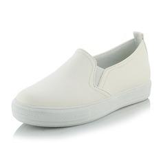 Kvinner Egte Lær Flat Hæl Flate sko sko (086138244)