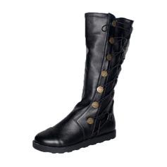Donna Similpelle Tacco basso Punta chiusa Stivali Stivali al ginocchio con Altrui scarpe (088187311)