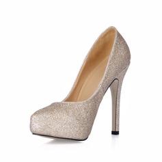 Kvinnor Glittrande Glitter Stilettklack Stängt Toe Plattform Pumps (047017460)