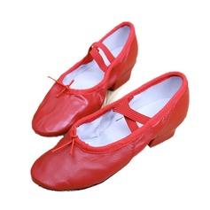 Donna Vera pelle Tacchi Balletto Scarpe da ballo (053053098)