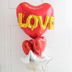 A forma di cuore Elegante Alluminio Lamina Palloncino (Set di 6) (131175219)