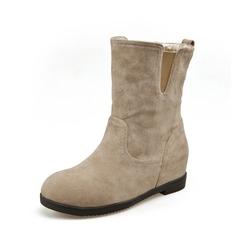Frauen Wildleder Keil Absatz Stiefelette Schuhe (088074019)