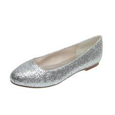 Kvinnor Glittrande Glitter Flat Heel Stängt Toe Platta Skor / Fritidsskor (047053921)