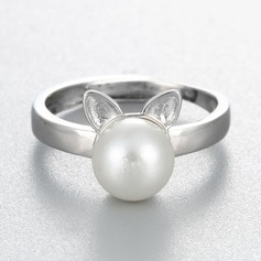 s925 Silver Unique Alloy Cat Ear Women's Fashion Rings Gaver (129140489)