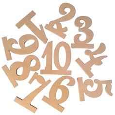 Stile classico Legno Tabella Schede di Numero (Set di 10) (051179165)