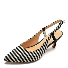 Donna Tessuto Tacco a spillo Sandalo Stiletto scarpe (085175383)
