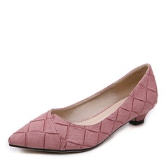 Donna Similpelle Tacco basso Stiletto Punta chiusa con Bowknot scarpe (085175370)