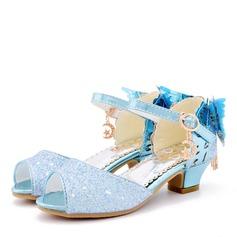 Fille de bout rond À bout ouvert similicuir Chaussures de fille de fleur avec Bowknot (207200906)