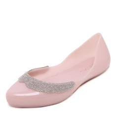 Donna PVC Ballerine Punta chiusa scarpe (086165239)