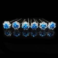 Kids Lovely Alloy Hairpins With Rhinestone (Set of 6) (042044849)