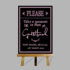 Personalizado Signo Del Libro De Visitas con Caballete (101201189)