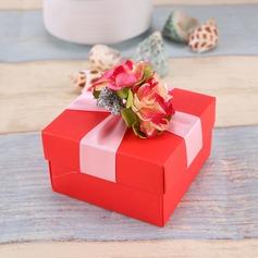 Disegno del fiore Cubi Scatole di Favore con Fiori (set di 12) (050096017)