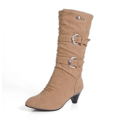 Donna Similpelle Tacchetto Punta chiusa Stivali Stivali al ginocchio Stivali altezza media Stivali da neve con Rivet Fibbia scarpe (088171007)
