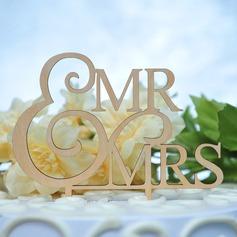 Mr & Mrs Legno Decorazioni per torte (119157027)