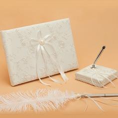 Elegante Di faux perla/Nastri Guestbook & Set di penne (101048740)