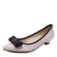 Donna Similpelle Tacco basso Stiletto Punta chiusa scarpe (085175371)