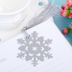 Snowflake Stainless Steel Bookmarks With Tassel (051005726)