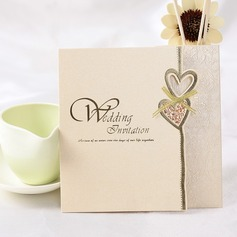 Heart Stil Z-Fold Invitation Cards (Sett Av 50) (114032364)
