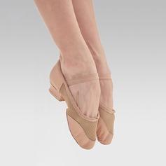 Frauen Microfaser-Leder Flache Schuhe Jazz Tanzschuhe (053122008)