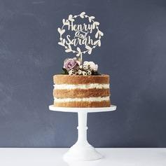 Personalizzato Sposa e Sposo Legno Decorazioni per torte (119187768)