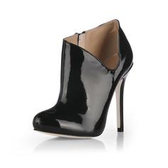 Lackleder Stöckel Absatz Absatzschuhe Geschlossene Zehe Stiefelette Schuhe (088020536)