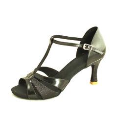 Donna Similpelle Glitter scintillanti Tacchi Sandalo Latino con Con Listino a T Scarpe da ballo (053013262)