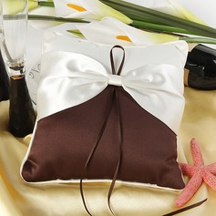 Elegant Ring Pillow in Satin With Sash (103018243)