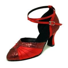 Femmes Satiné Pailletes scintillantes Talons Escarpins Salle de bal Chaussures de danse (053008916)