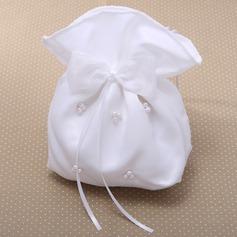 Magnifico Satinato con Bowknot/Perle imitazione Braccialetti/Borsa da sposa (012026340)